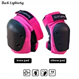 Girl's and Boy's Knee pad and Elbow pads 2 in 1 Protective Gear Set, Junior/Teenager/Youth for Skateboarding, Rollerblade, Inline Skating, Bicycle Bike ride,Suggest for 8 to 14 Years Old