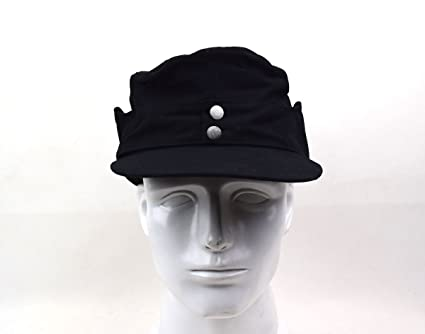 b47394900c0 Replica WW2 German Army Elite EM M43 Summer Panzer Field Cap Hat Black (M (