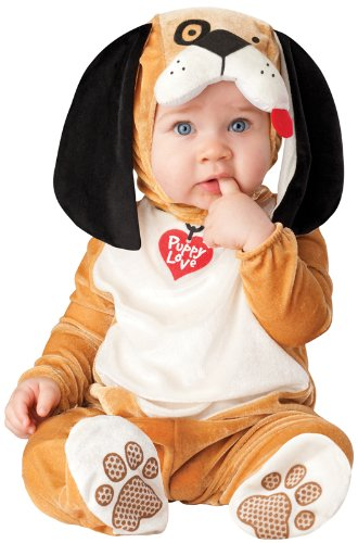InCharacter Costumes Baby's Puppy Love Costume, Tan/White/Black, Large