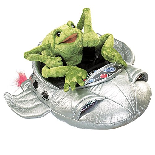 Folkmanis Frog in Spaceship Character Hand - January Weird Holidays
