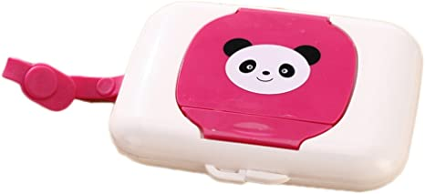 Lalang Baby Wipes Dispenser Box Travel Portable Wet Tissue Case pink