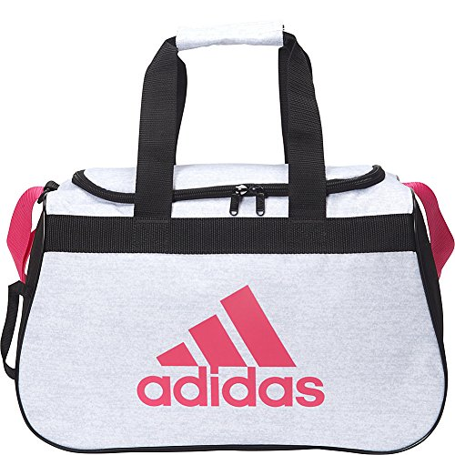 adidas Diablo Small Duffel Bag, White Jersey/Real Magenta Pi