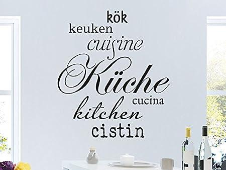 En diferentes idiomas de pared de la cocina, turquesa, 70 x 80 cm ...