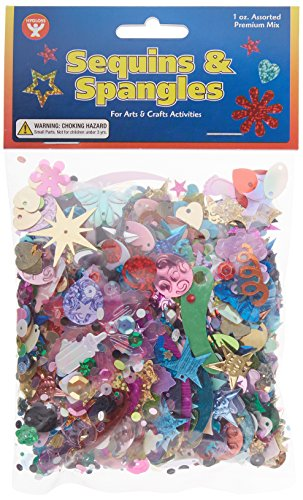 Hygloss Products Sequins and Spangles Variety Pack– Add Shimmer and Shine to Any Surface – 1 Ounce Bag