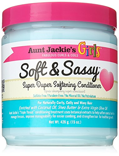 Aunt Jackie's Girls Soft and Sassy Super Duper Softening Conditioner, 15 oz