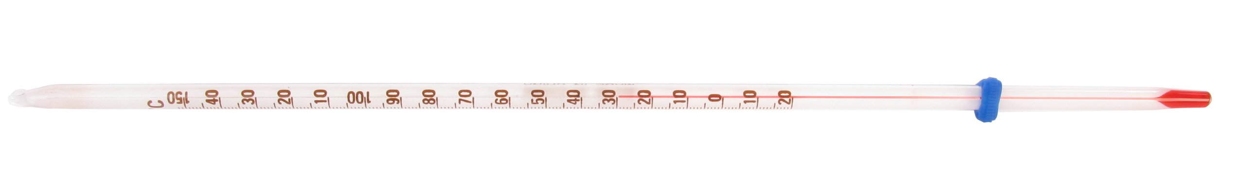 American Educational Partial Immersion Red Alcohol Single Scale Thermometer with White Back, 76mm Immersion, -20 - 150 Degree C, 300mm Length (Bundle of 5)