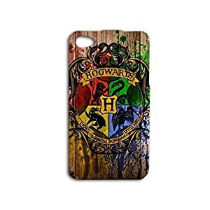 Wood Hogwarts Harry Potter iPhone Case -Black Hard Cover plastic Case for iPhone 5 5s case by runtopwell