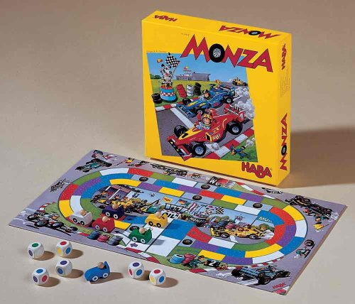 HABA Monza A Car Racing Board Game Encouraging Tactical Thinking - Ages 5 and Up (Made in Germany) (Games Starting With S)
