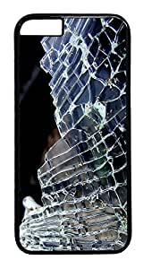 ACESR Broken Glass iPhone 6 Hard Case PC - Black, Back Cover Case for Apple iPhone 6(4.7 inch)