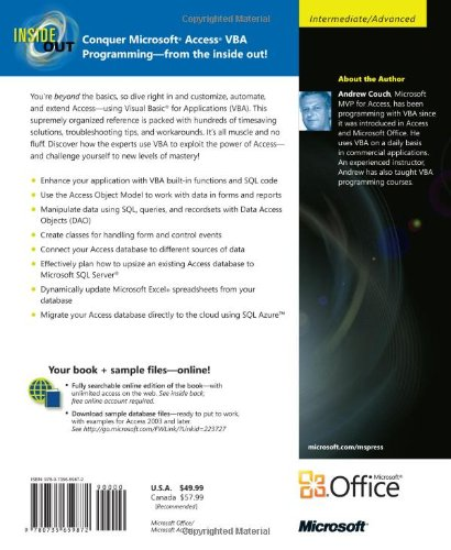 Microsoft Access 2010 VBA Programming Inside Out by Microsoft