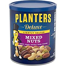 Planters Deluxe Mixed Nuts, Lightly Salted, 15.25 Ounce Canister