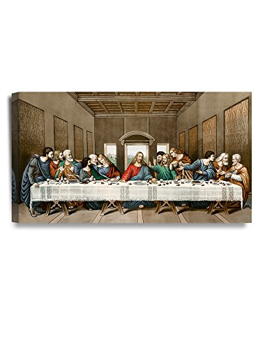 Classic Home Decor (DecorArts -The Last Supper, Leonardo da Vinci Classic Art Reproductions. Giclee Canvas Prints Wall Art for Home Decor 32x18x1.5
