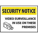 Security Notice Video Surveillance..., Rigid Plastic, 14'' x 20'' (5 Pack)