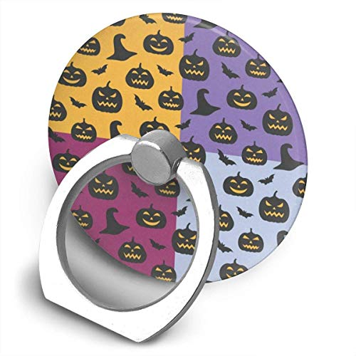 (NfuquyamDoormat Awesome Customized Finger Ring Stand Unique Witch Hat Pumpkin Bats Universal Smart Phone Ring for iPhone, Samsung Galaxy 360°Rotation Cell Phone Ring Stand Holder Grip)