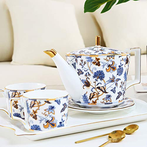 CSQ Coffee Cup Five Sets of Tea Sets, Black Tea Coffee Restaurant Tea Set Scented Tea Teapot Ceramic Teapot Capacity: 1150ml Afternoon Tea (Color : #2) by Tea set-CSQ (Image #2)