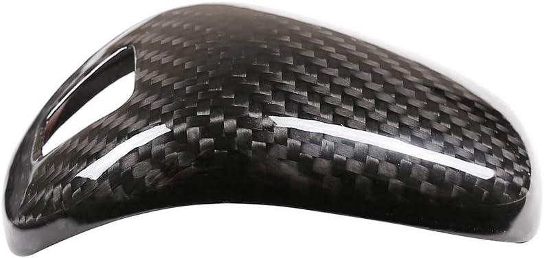 Carbon Fiber 100/% Real Carbon Fiber Car Center Gear Shift Head Cover Trim for Porsche Panamera 2017 2018 2019 2020 Interior Accessories