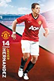 England Manchester United Javier Hernandez (2012-2013 Season) Football Soccer Player Sports Fan Poster Print 24x36