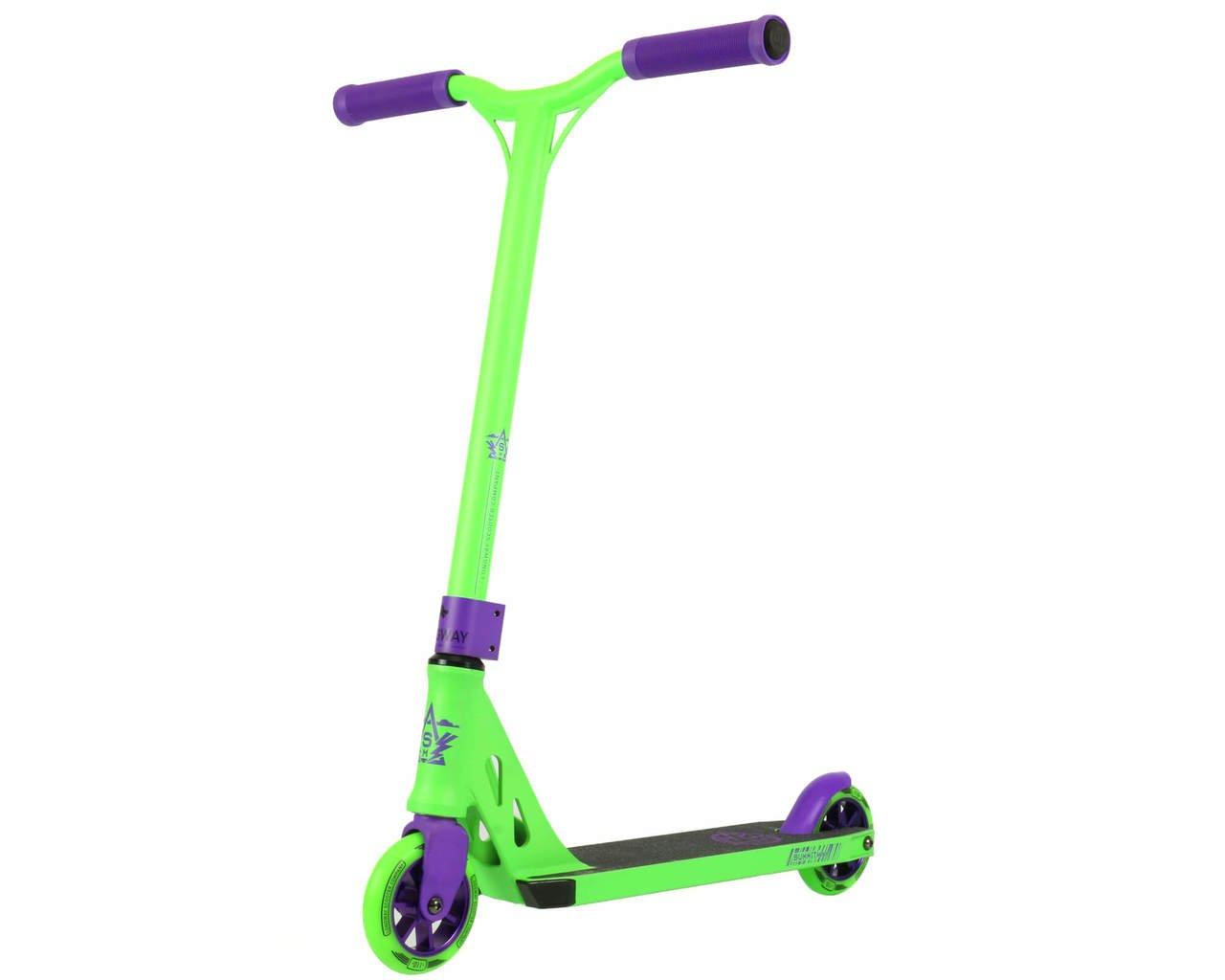 Summit Mini Trick Stunt Complete Scooter - Perfect for Young Beginner Freestyle Scooter Rider - Small Handlebars and Small Deck Plate - The WORLD'S Favorite Professional Mini Kick Push Scooter (Green)