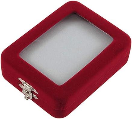 yongqxxkj - Caja de Regalo de Terciopelo Rojo para Pulsera, Anillo, Pendientes, Pulsera One Color: Amazon.es: Joyería