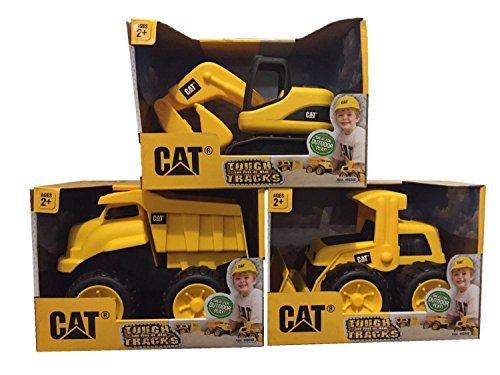 CAT Tough Tracks Toy Construction Set (Excavator, Front-end Loader, Dump Truck) ()