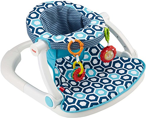 Fisher-Price Sit-Me-Up Floor Seat, Blue Geo