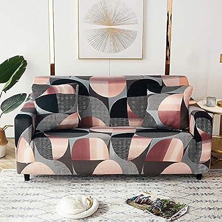 PPMP Fundas elásticas geométricas para sofás, Fundas elásticas para sofás para Sala de Estar, Funda para sofá, Silla, Funda para sofá, decoración del hogar, Funda para sofá A12, 1 Plaza