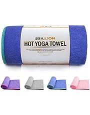 5BILLION Mikrofaser Yoga Handtuch für Yogamatte - 183 cm x 61 cm - Hot Yoga Handtuch, Bikram Yoga Handtuch, Ashtanga Yoga Handtuch - Non Slip, Super Saugfähig, Schnelles Trocknen - Frei Tragetasche
