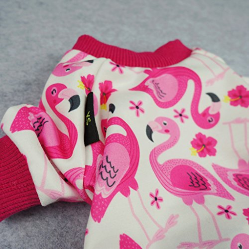 Fitwarm Flamingo Pet Clothes for Dog Pajamas PJS Shirts Jumpsuit Pink Small by Fitwarm (Image #2)