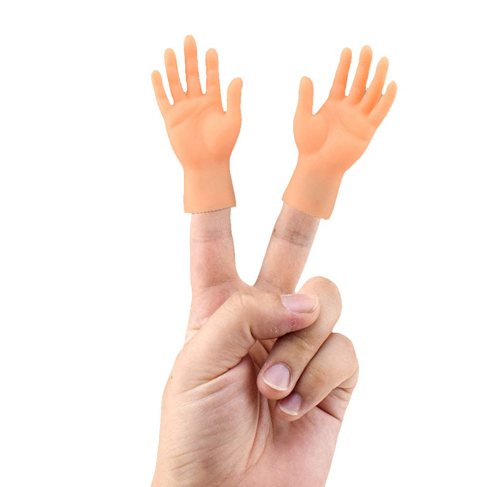 Finger Puppet Mini Finger Hands Tiny Hands with Left Hands and Right Hands for Game Party 2 Pcs