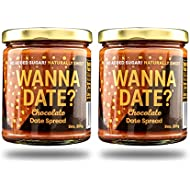 Wanna Date? Chocolate Date Spread, Vegan, Paleo Friendly, Gluten-Free, Dairy-Free, Non-GMO, No Added Sugar, No Cane Sugar, Whole30 Compliant, Healthy Sugar Substitute, Sugar Free Alternative (2 Jars)