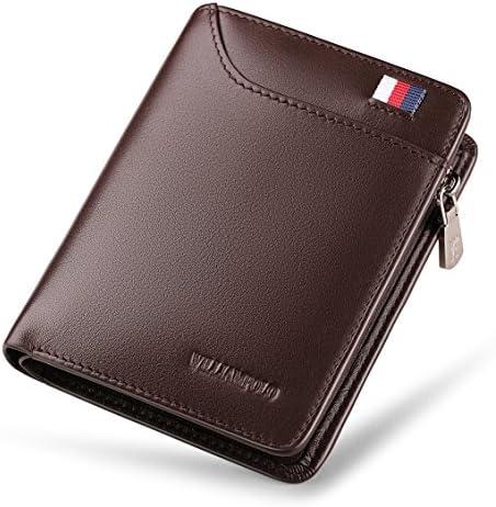 Mens Genuine Leather Wallet Bifold Money Card Holder Coin Pocket Purse