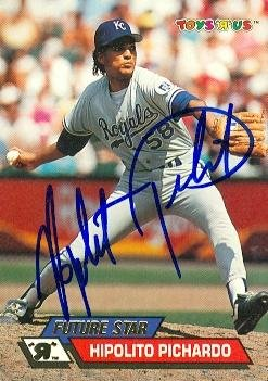 Toys R Us Kansas City (Autograph Warehouse 97618 Hipolito Pichardo Autographed Baseball Card Kansas City Royals 1993 Topps Toys R Us No.)