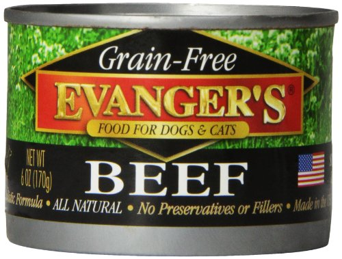 - Evanger'S 776280 24-Pack Grain Free 100-Percent Beef For Dogs And Cats, 6-Ounce