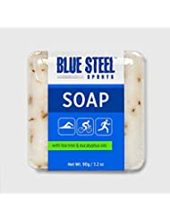 Blue Steel Sports SOAP with Tea Tree and Eucalyptus Oils - Medium - 90 g / 3.2 oz