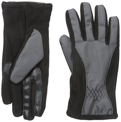 Isotoner-Womens-Matrix-Nylon-smarTouch-Gloves-with-Piping