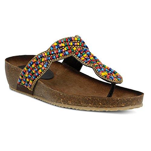 Azura Donna St. Tropez Etta Slide Sandal Rainbow Multi