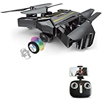 SGOTA RC Drone Foldable FPV VR Wifi RC Quadcopter 2.4GHz 6-Axis Gyro Remote Control Drone with 720P HD 2MP Camera Drone
