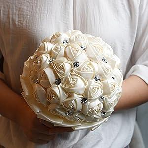 Bridal bouquets for wedding,Wedding bouquets,Bride Bridesmaids Bouquet Crystal Rhinestone Brooch Wedding Bouquets Brides Bridesmaids Hand Holding Flower 18cm/ 7 inch 119