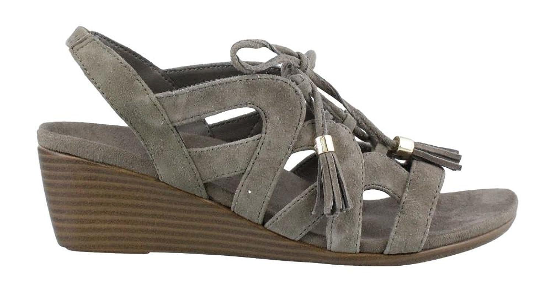 Vionic Womens Park Kalie Lace Up Wedge Sandal Greige Size 6.5 B01HOXX0R0 Parent