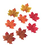Derker 200 Assorted Artificial Fall Maple Leaves of Autumn Colors - Great Autumn Table Scatters and Fall Decorating by Derker