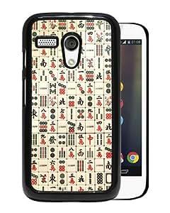 2015 New Style Mahjong Black Special Custom Made Motorola Moto G Cover Case