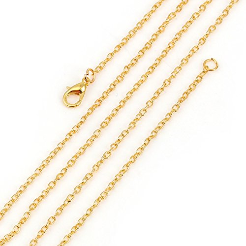 - Gold Cable Link Chain, Wholesale 12 Pieces, Each 30 Inches Long (3 x 2.2mm)
