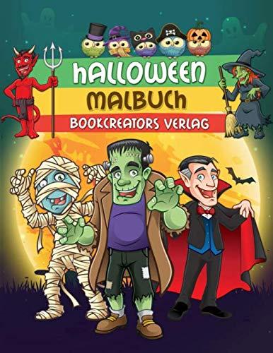Halloween Malbuch: Gruselige Designs für Kinder (Hexen, Kürbisse, Monster, Dracula und mehr) (German Edition) -