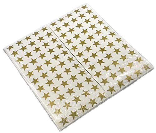 (AMC Gold Star Stickers for Teachers 3300 per Pack Great 1 inch Gold Star Stickers for Kids Homework, Projects Excellent for Envelope Seals )