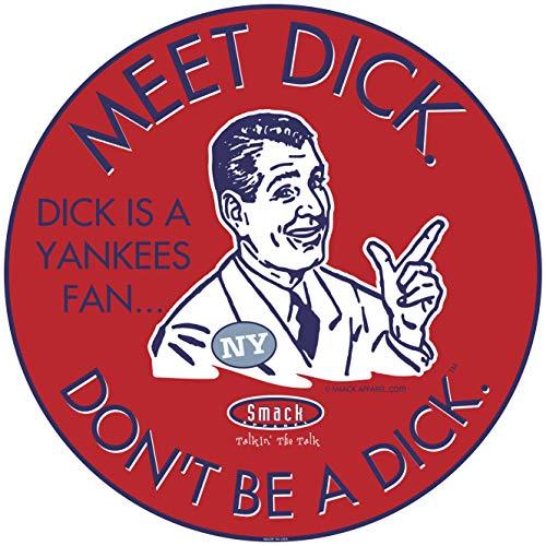 Boston Baseball Fans. Don't Be a D!ck (Anti-Yankees) Sticker (3 Pack)