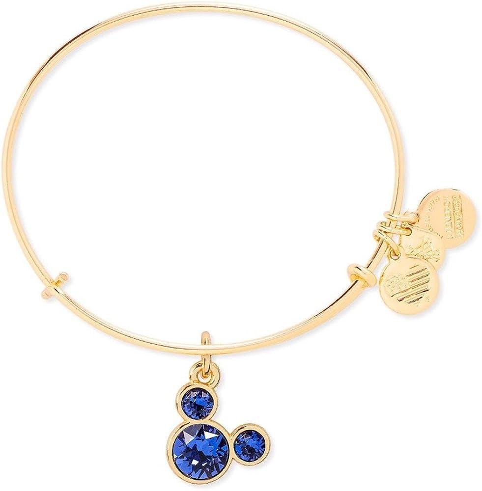 Disney Parks Authentic Alex and Ani February Birthstone Bracelet Gold BRAND NEW