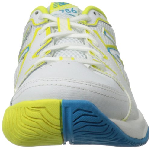 888098094114 - New Balance Women's WC786 Tennis Shoe,White/Yellow,7.5 2A US carousel main 3