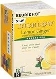 Bigelow Tea,K-Cup,Lemon Ginger 12 Count (Pack Of 6)