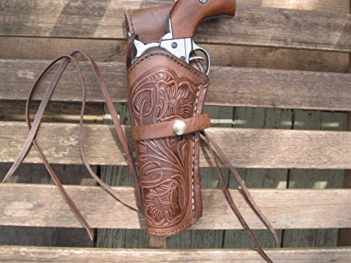 Western Gun Holster - Brown - Left Handed - for .22 Caliber single action revolver - Size 6