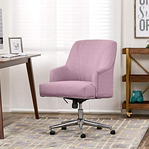 - Serta Style Leighton Home Office Chair, Twill Fabric, Lilac